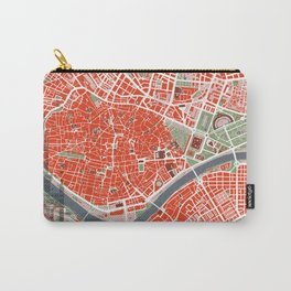 Seville city map classic Carry-All Pouch
