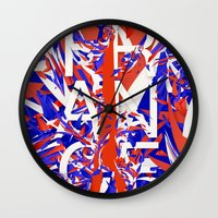 france Wall Clocks featuring France by Danny Ivan