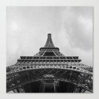 eiffel tower Canvas Prints featuring Eiffel Tower by Evan Morris Cohen