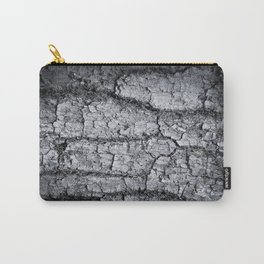 Texture - a bark of old oak with moss in grey colors Carry-All Pouch