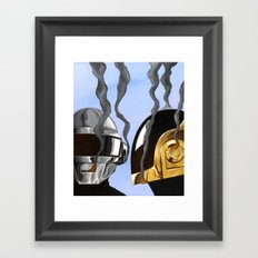 Daft Punk Deux Framed Art Print
