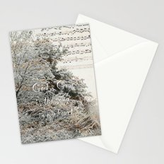 God's Grace is the song in my heart Stationery Cards