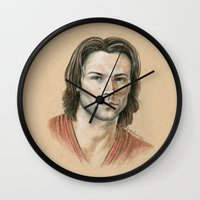 sam smith Wall Clocks featuring Sam by Stormwolf Studios