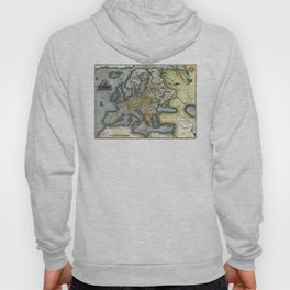 Map of Europe by Abraham Ortelius - 1571 Hoody