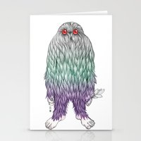 bigfoot Stationery Cards featuring BigFoot by Paz Art