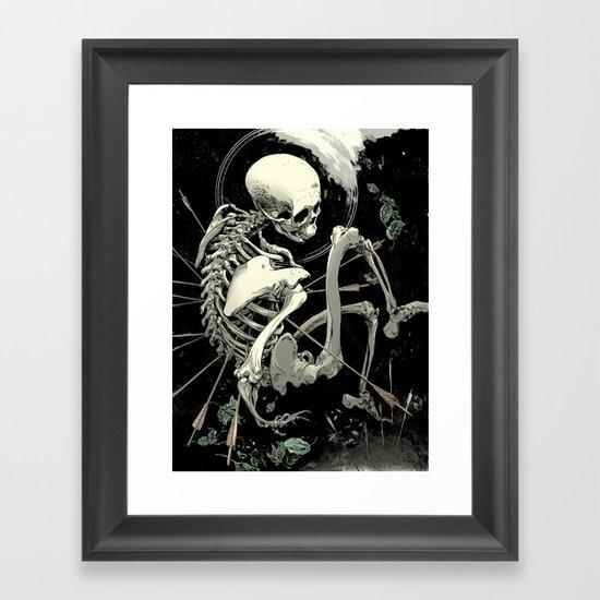 Caetera fumus Framed Art Print