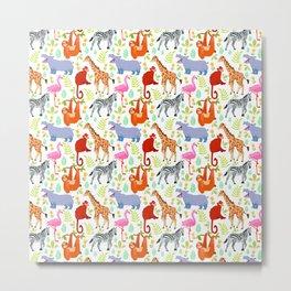Safari Animals Metal Print