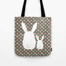 Bunny / Vintage pattern #1 Tote Bag