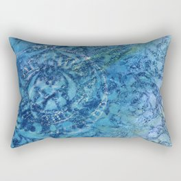 Gathering Blue Rectangular Pillow