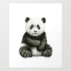 Panda Baby Watercolor Animal Art Art Print