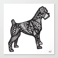 boxer Canvas Prints featuring Boxer by creative.court