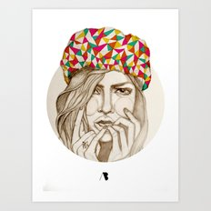 Keep your hat on Art Print