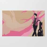 darren criss Area & Throw Rugs featuring Darren by Miki Price