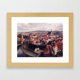 KRUMLOV OVERLOOK, PT. 2 Framed Art Print