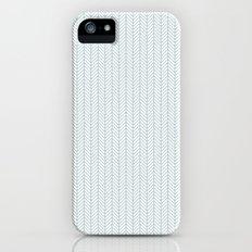 PATTERN: BLUE WAVE LINES Slim Case iPhone (5, 5s)