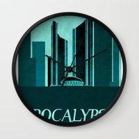 resident evil Wall Clocks featuring Resident Evil Apocalypse by JackEmmett