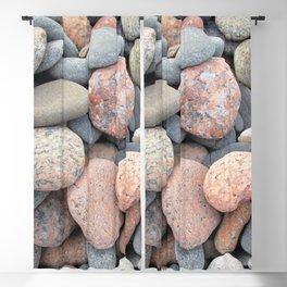 Watercolor Rock, Pebbles 05, Cape Breton, Nova Scotia, Canada, No Worries Here Blackout Curtain