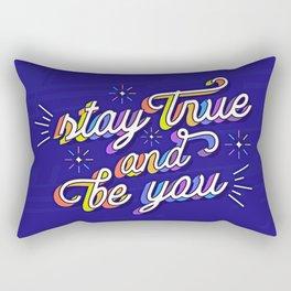 Just Be Yourself Rectangular Pillow