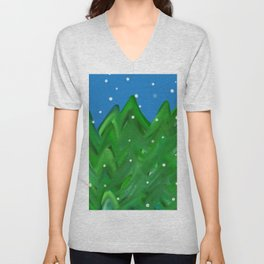 Winter Forest Unisex V-Neck
