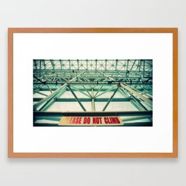 Please do not climb Framed Art Print