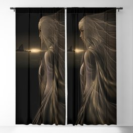 Arinna - Fractal Manipulation - Visionary Art - Manafold art Blackout Curtain