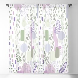 Close to Nature - Simple Doodle Pattern 1 #handdrawn #pattern #nature Blackout Curtain