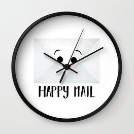 Happy Mail Wall Clock