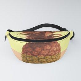 Pineapple Print - Tropical Decor - Botanical Print - Pineapple Wall Art - Beige, Peach - Minimal Fanny Pack