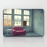 sofa iPad Cases featuring The Pink Sofa' by Anna Andretta