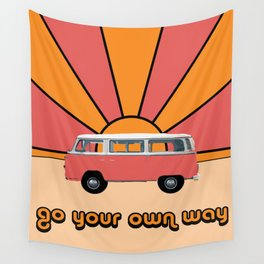 Go Your Own Way Van Wall Tapestry
