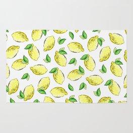 Lemon Watercolor Pattern Rug