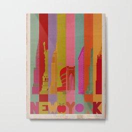 Colors of New York. Metal Print