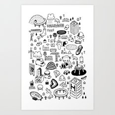 MIL-LOGOS Art Print