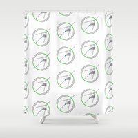 compass Shower Curtains featuring Compass by Omar VP
