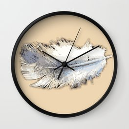 Fair weather feather Wall Clock