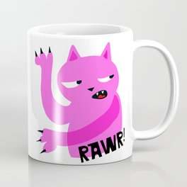 Pink Rawr Cat Coffee Mug