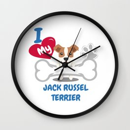 JACK RUSSEL TERRIER Cute Dog Gift Idea Funny Dogs Wall Clock