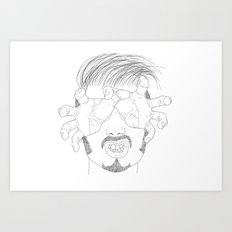 I'm grabbing your eyes baby ! Art Print