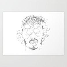 I'm grabbing your eyes baby ! Art Print