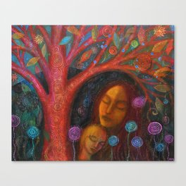 Mother Child Tree Canvas Print