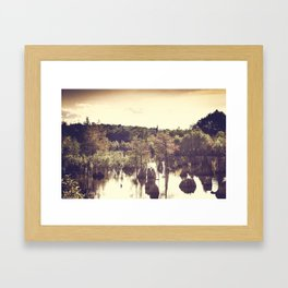 Dead Lakes With A Vintage Twist  Framed Art Print