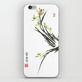 Green Wild Orchid Two iPhone Skin