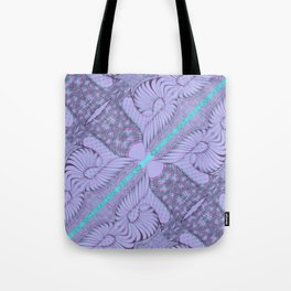 Diagonal Abstract Psychedelic Doodle 5 Tote Bag