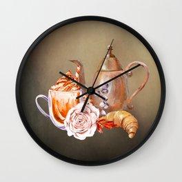 Beautiful Coffee Service Wall Clock