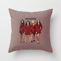 pretty little liars Throw Pillows featuring #WCEveryday Pretty Little Liars cast by Illuminany