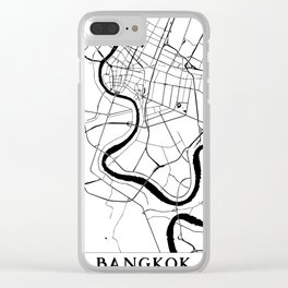 Bangkok Thailand Minimal Street Map Clear iPhone Case