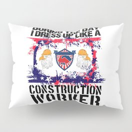Construction Worker Gift For Men Proud Union Labor Pillow Sham