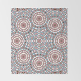 Pastel Mandala Throw Blanket