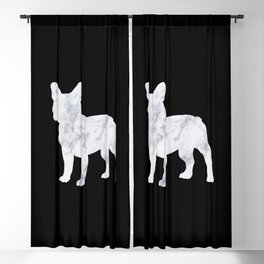 French bulldog marble noir Blackout Curtain