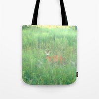bambi Tote Bags featuring BAMBI by Magdado